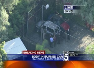 Body Found in Burned Out SUV in Upscale Rancho Palos Verdes