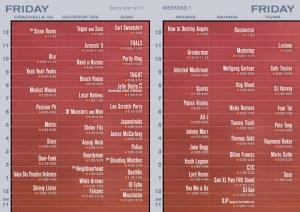 Coachella Friday set times
