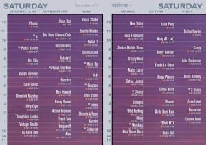 Coachella Saturday set times