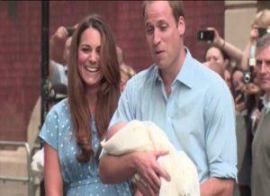 First Glimpse of Royal Baby