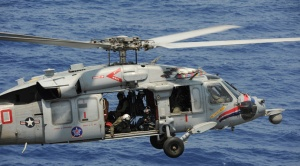 Navy Crash Knighthawk Helicopter Red Sea