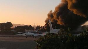 santa monica crash smoke
