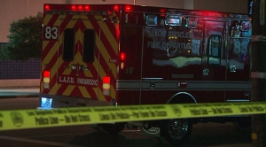 police tape lafd ambulance filephoto
