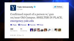 Yale Gunman Twitter Tweet Campus