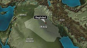 Iraq locator map Baghdad