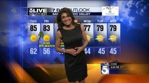 Vera's 7-Day Outlook – Wednesday