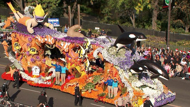rose parade sea world float