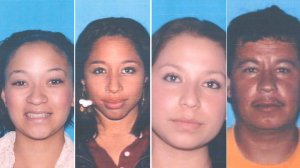 Maya Culbreath, Kristin Young, Jessica Mejia and Gregorio Martinez are four of the victims killed in a freeway crash in Diamond Bar on Feb. 9, 2014. Culbreath is the sister of the alleged DUI driver suspected in the crash. (Credit: DMV)
