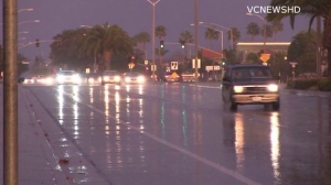 rain wet street