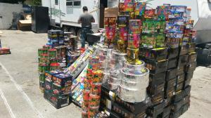 Some 10 tons of illegal fireworks were discovered at a Pico Rivera business on June 19, 2014. (Credit: El Monte PD)