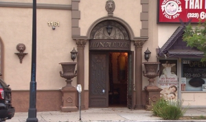 Six people were shot at the Monalizza Restaurant and Banquet early Sunday, June 29, 2014. (Credit: KTLA)