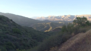 Searchers were looking for Herdman in the remote Sespe Wilderness Area on June 21, 2014, eight days after he was last seen. (Credit: KTLA)