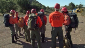 Searchers were trying to find firefighter Mike Herdman deep within the Los Padres National Forest on June 17, 2014. (Credit: KTLA)