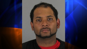 Velete is accused of spraying household cleaner in the puppy's eyes and put it in duffel bag, which he hung in the shower, prosecutors said. The puppy apparently whimpered for hours while it was inside the duffel bag. Prosecutors also said he taped the puppy's mouth shut and fed it his psychiatric drugs. (Credit: Redwood City Police Department)