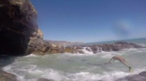 GoPro video captured two civilians rescuing a 19-year-old man at Sacred Cove on July 6, 2014. (Credit: Hillary Swanson)
