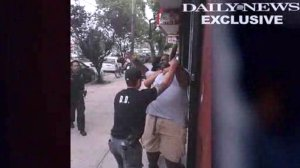 Video showed Eric Garner, 43, being put in a chokehold during an arrest in Staten Island on July 17, 2014. (Credit: New York Daily News)