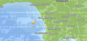 The quake struck west of the beach cities. (Credit: USGS)