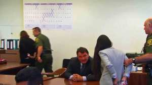 Candace Brito and Vanesa Zavala were led away after their conviction in a Santa Ana courtroom on July 24, 2014. (Credit: KTLA)