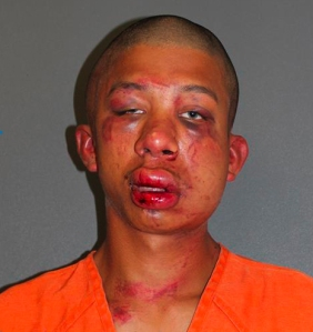 Police said Raymond Frolander, 18, was beaten unconscious after a father walked in on his sexually assaulting his young son. (Credit: Daytona Beach Police)