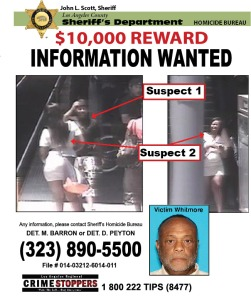 The Sheriff's Department released this flier July 22, 2014,  regarding Whitmore's beating death.