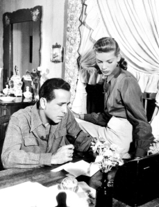 Picture dated from 1948 of legendary US actor, director, producer Humphrey Bogart (1899-1957) beside his wife U.S. actress Lauren Bacall. (Credit: Getty Images)