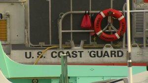 A file photo shows a U.S. Coast Guard vessel. (Credit: KTLA)
