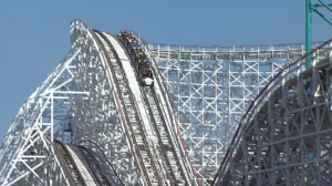 Colossus was scheduled to close on Saturday, Aug. 16, 2014. Season pass holders would get the chance to ride the roller coaster one last time on Sunday, however. (Credit: KTLA)