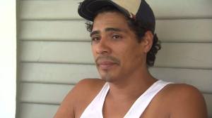 Daniel Hernandez recounts an alleged violent encounter with police during an Aug. 29, 2014, interview. (Credit: KTLA)