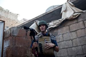 James Foley is shown in a 2012 photo taken by Nicole Tung in Aleppo, Syria, and posted on the Facebook page. Free James Foley.