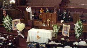 Funeral services for Ezell ford were held on Aug. 30, 2014. (Credit: Steve Kuzj/KTLA)