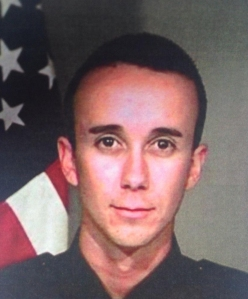 San Bernardino police Officer Gabriel Garcia was gravely wounded on Aug. 22, 2014. His photo was provided by the Police Department.