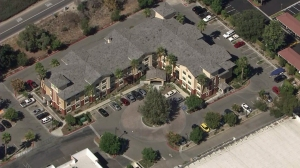 """Jonathan """"War Machine"""" Koppenahver was arrested at this hotel in Simi Valley on Aug. 15, 2014. (Credit: KTLA)"""