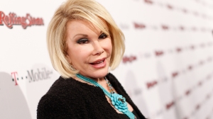 In this file photo,  Joan Rivers arrives at the Peter Travers and Editors of Rolling Stone Host Awards Weekend Bash at Drai's Hollywood on February 26, 2011 in Hollywood, California. (Credit: Christopher Polk/Getty Images for Rolling Stone)