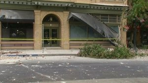A building was damaged following a 6.0 earthquake that was centered near Napa. (Credit: CNN)