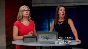 Cameras were rolling when the temblor caught KAUT anchors Emily Sutton and Lacey Lett off guard. (Credit: KAUT via KFOR)