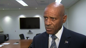 Acting LAPD Chief Earl Paysinger speaks about officers' fatal shooting in South Los Angeles in a Aug. 13, 2014, interview. (Credit: KTLA)