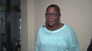 Marlene Pinnock talks about the July 1 freeway beating that was caught on cellphone video. (Credit: KTLA)