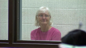 Marilyn Hartman appears at the Airport Courthouse on Aug. 11, 2014. (Credit: KTLA)