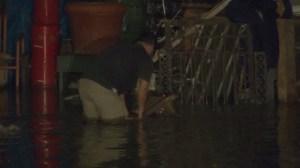 A water main broke in Echo Park near Sunset Boulevard and North Alvarado Street on Aug. 26, 2014. (Credit: KTLA)