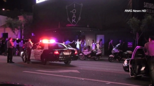 Three people were shot and wounded, including Suge Knight, at a West Hollywood nightclub on Aug. 24, 2014. (Credit: KTLA)