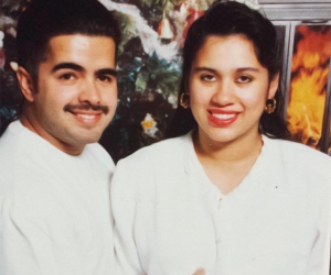 A family photograph of Daniel Crespo and his wife, Levette.