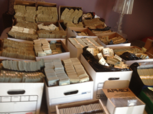 Some $35 million in cash was found stashed in boxes at one downtown L.A. location raided on Sept. 10, 2014. (Credit: Department of Justice)