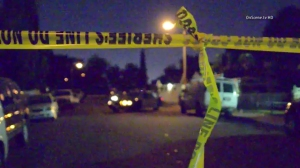 A boy was fatally stabbed at a home in the Florence-Firestone area of South Los Angeles on Thursday, Sept. 18, 2014, authorities said. (Credit: OnScene.tv HD)