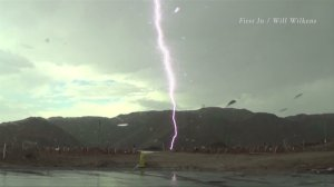 Lightning strikes in the Temescal Valley area, southeast of Corona, on Sept. 16, 2014. (Credit: Will Wilkens)