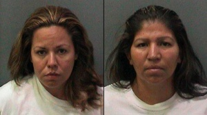 Sandra Rojas (L) and Marie Rojas (R) allegedly posed as house keepers in order to steal from homes in Orange County. (Credit: Orange County Sheriff's Department)