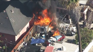 motor-home south los angeles fire