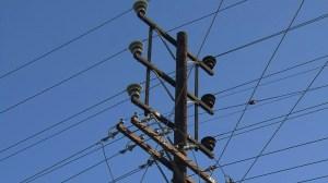 A power pole is seen in a file photo. (Credit: KTLA)
