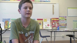 Kyle Bradford, 13, received detention after giving a friend part of his lunch on Sept. 16, 2014, at Weaverville Elementary School in California. (Credit: KRCR-TV)