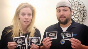 Ashley and Tyson Gardners started a Facebook page after people started sharing pictures from the ultrasound all over the Internet. (Courtesy of Alicia Hallock)