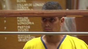 David Martinez appears in a courtroom at the Foltz Criminal Justice Center on Oct. 30, 2014. (Credit: KTLA)